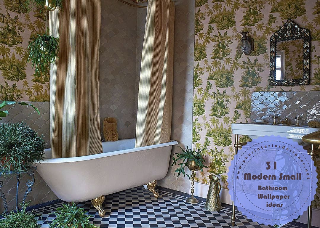 31 Simple Remodel Methods Made In Small Bathrooms With Modern Wallpapers Your Interior Designer