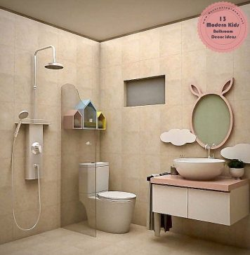 modern kids bathroom decoration ideas
