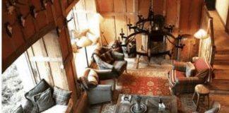 rustic style living rooms